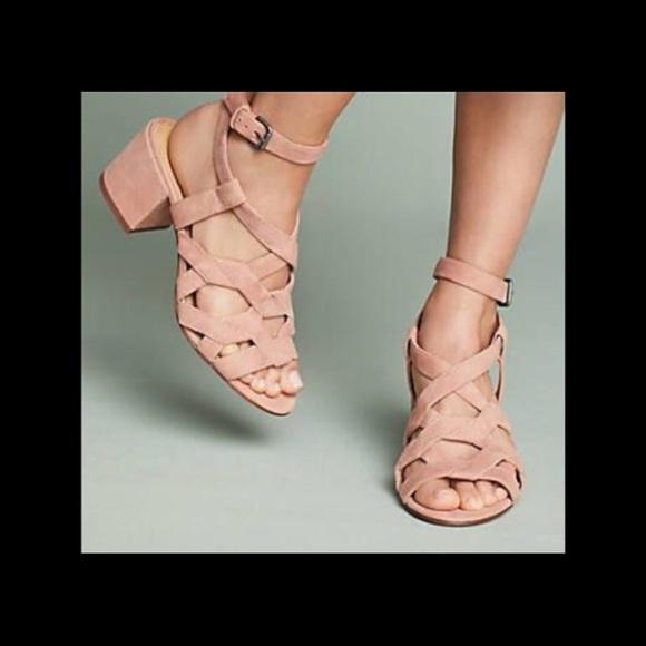 a24f4ca083e NIB Splendid Barrymore Pink Suede Block Sandals Boutique